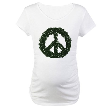 Peace Wreath Maternity T-Shirt