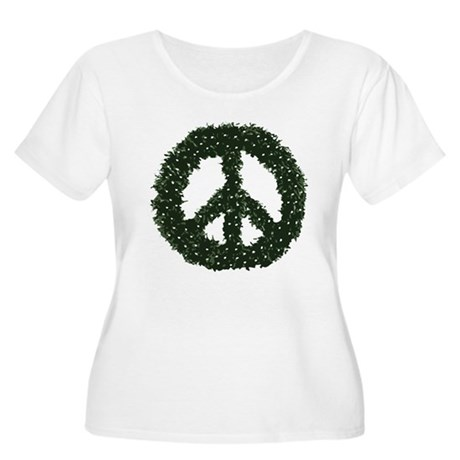 Peace Wreath Plus Size Scoop Neck Shirt