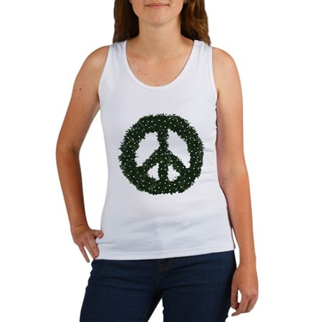 Peace Wreath Womens Tank Top