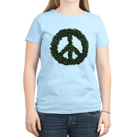 Peace Wreath Womens Light T-Shirt