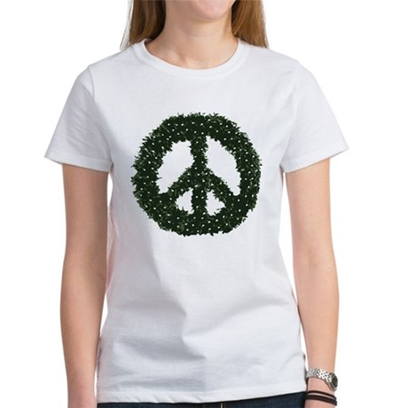 Peace Wreath Womens T-Shirt