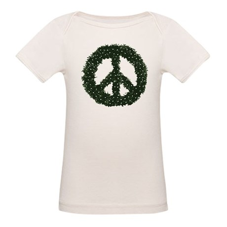 Peace Wreath Organic Baby T-Shirt