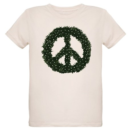 Peace Wreath Organic Kids T-Shirt