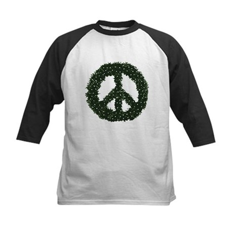Peace Wreath Kids Baseball Jersey