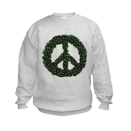 Peace Wreath Kids Sweatshirt