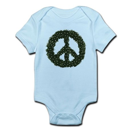 Peace Wreath Infant Bodysuit