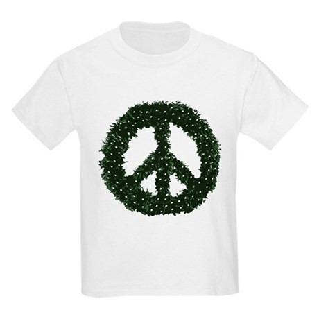Peace Wreath Kids Light T-Shirt