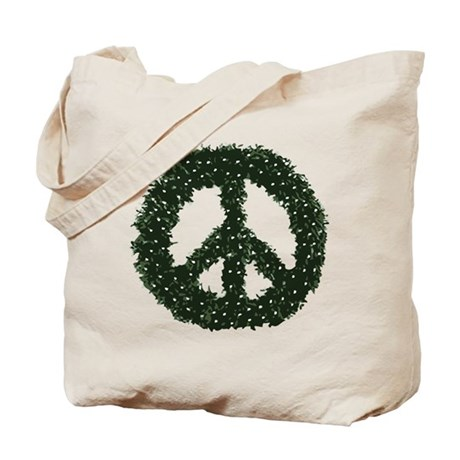Peace Wreath Tote Bag