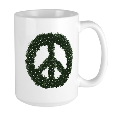 Peace Wreath Large Mug