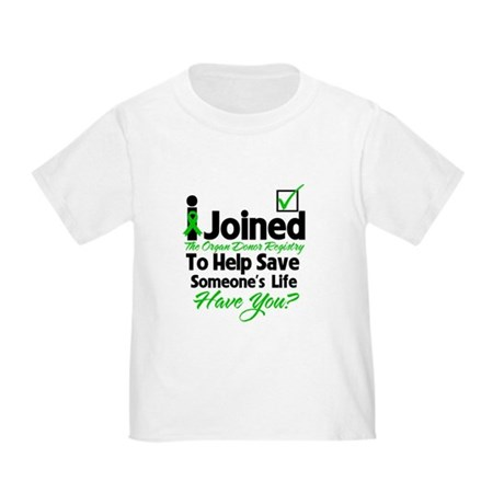Organ Donor Registry Toddler T-Shirt