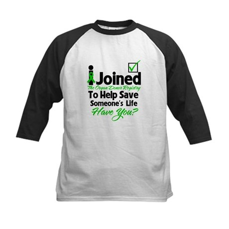 Organ Donor Registry Kids Baseball Jersey
