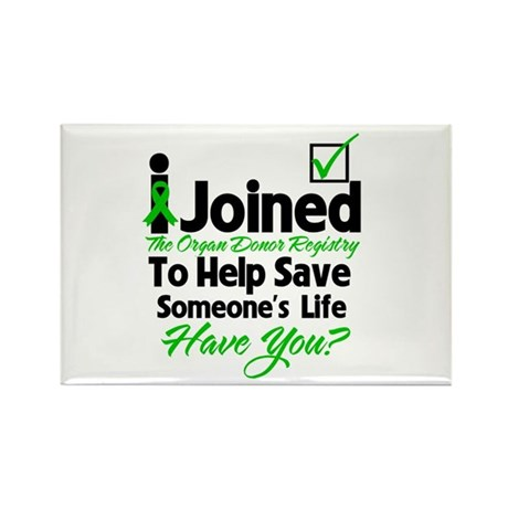 Organ Donor Registry Rectangle Magnet