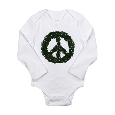 Peace Wreath Long Sleeve Infant Bodysuit