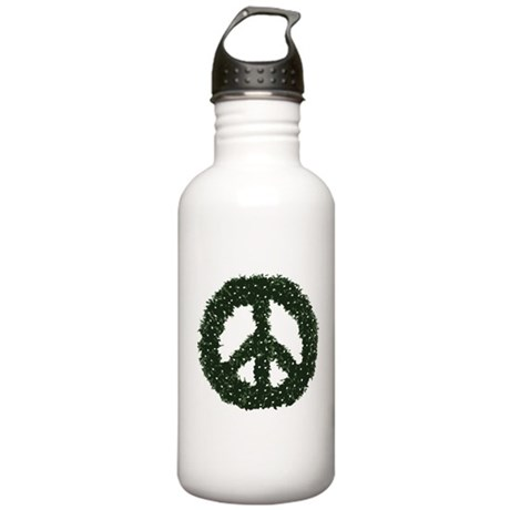 Peace Wreath Stainless Water Bottle 1 Liter