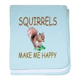 Squirrels baby blanket