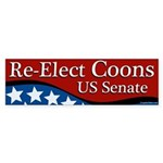 Re-elect Coons to Senate bumper sticker