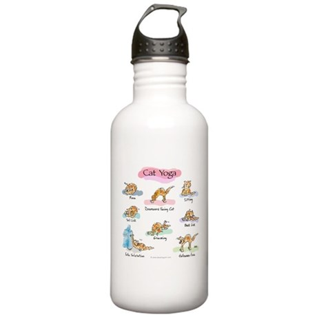 Cat YOGA POSES Stainless Water Bottle 1.0L