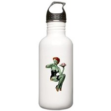 zombie pin-up girl Water Bottle