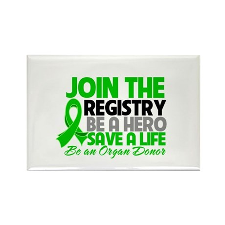 Join The Organ Donor Registry Rectangle Magnet