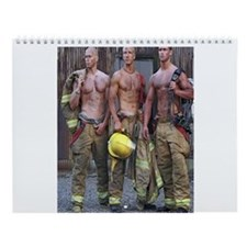 HOT FIREFIGHTERS Wall Calendar