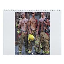 HOT FIREFIGHTERS Wall Calendar