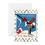 Tea Party Christmas Greeting Cards (Pk of 10)
