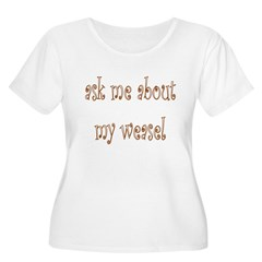 Ask Me About My Weasel Women's Plus Size Scoop Nec