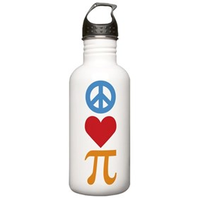 Peace Love Pi Stainless Water Bottle 1.0L