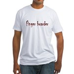 Finger Boader Fitted T-Shirt