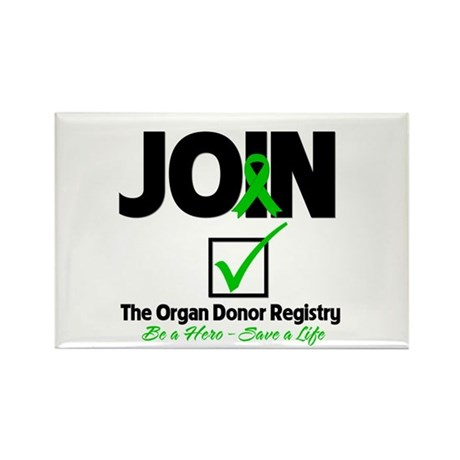 Be a Hero Join Registry Rectangle Magnet