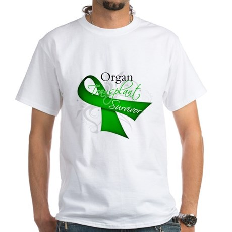 Organ Transplant Survivor White T-Shirt
