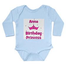 1st Birthday Princess Anna! Long Sleeve Infant Bod