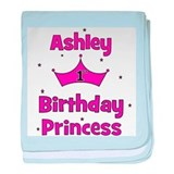 1st Birthday Princess Ashley! baby blanket
