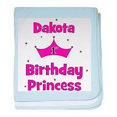 1st Birthday Princess Dakota! baby blanket