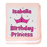 1st Birthday Princess Isabell baby blanket