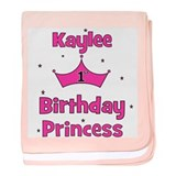 1st Birthday Princess Kaylee! baby blanket