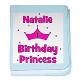 1st Birthday Princess Natalie baby blanket