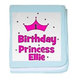 1st Birthday Princess Ellie! baby blanket