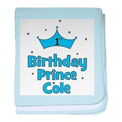 1st Birthday Prince Cole! baby blanket