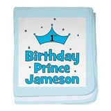 1st Birthday Prince Jameson! baby blanket