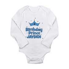1st Birthday Prince - Jayden Long Sleeve Infant Bo