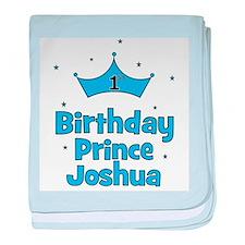 1st Birthday Prince JOSHUA! baby blanket
