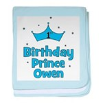 1st Birthday Prince OWEN! baby blanket