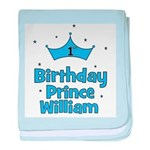 1st Birthday Prince WILLIAM! baby blanket