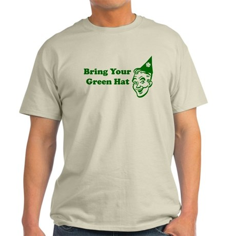 Bring Your Green Hat Ash Grey T-Shirt