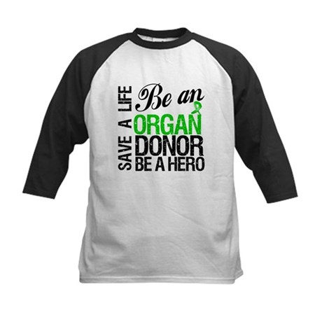 Be an Organ Donor Kids Baseball Jersey