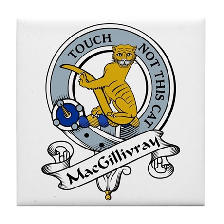 MacGillivray Clan Badge Tile Coaster