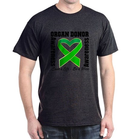 Heart Organ Donor Awareness Dark T-Shirt