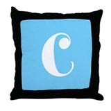Blue Alphabet Blocks Throw Pillow - C