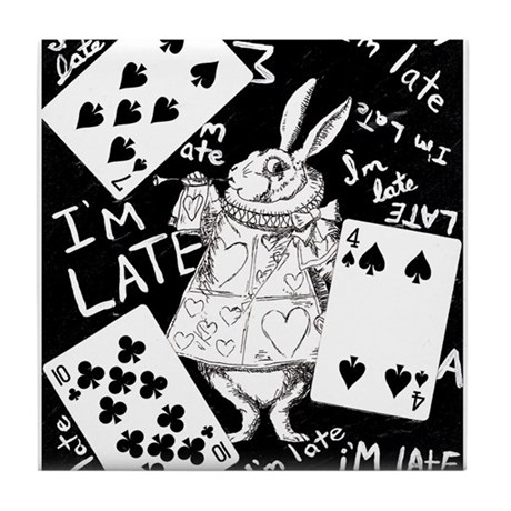 I'm Late Tile Coaster